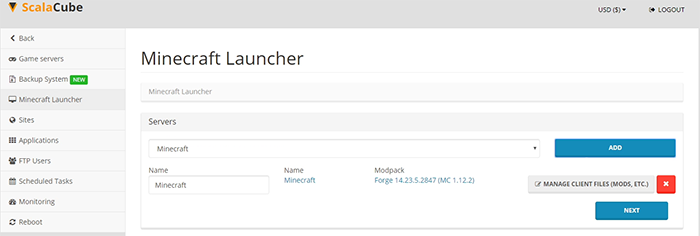 Add server to Minecraft launcher